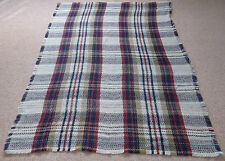 NATIONAL TRUST ALL WOOL LARGE TARTAN CHECK BLANKET PICNIC RUG THROW MADE BRITAIN