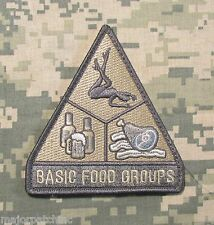 BASIC FOOD GROUPS USA ARMY MORALE MILITARY TACTICAL BADGE ACU LIGHT VELCRO PATCH