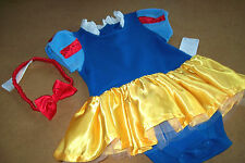 "DISNEY'S PRINCESS ""SNOW WHITE"" BODY SUIT DRESS (18-24 MOS) ++ ELASTIC HEADBAND"