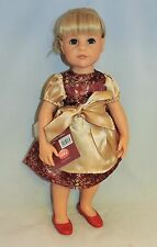 """Gotz Red and gold dress outfit fits other skinny 18"""" dolls"""