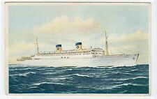 S.S. HOMERIC: Home Lines shipping postcard (C20612)