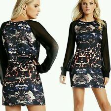 Nwt GUESS by Marciano Shady Hollow-Print Dress size XS