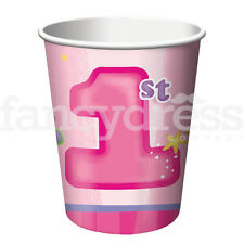 Fun at One Birthday Cups 1st Pink Party Celebration Pack 8 NEW
