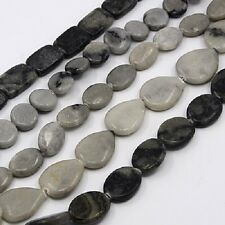16 x Zebra Jasper Gemstone Beads Craft Jewellery - 16mm  - LB1030 *