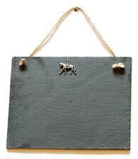 Cheval de dressage suspendu ardoise craie tableau d'affichage message, listes, équitation cadeau