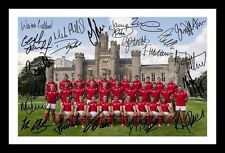 WALES 2015 RUGBY WORLD CUP SQUAD AUTOGRAPHED SIGNED AND FRAMED  POSTER PHOTO