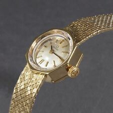 Rare Vintage Omega Lady's Solid 14K Yellow Gold Octagonal Case Bracelet Watch