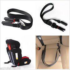 Portable Black Adjustable Auto SUV Children Safe Seat Bandage Strap Isofix Link