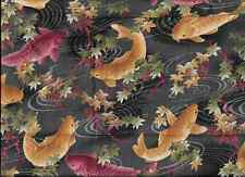 JAPANESE PRINTS KOI FABRIC HALF YARD CUT OOP.