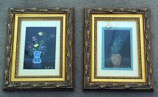 SET OF 2 Original Hand Painted Acrylic Wall Art Framed Impressionist Paintings