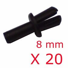 8mm Push Fit Rivet / Panel Trim Clips Pack of 20
