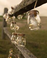 String Jars LED Fireflies Lights Rustic Country Wedding Patio Decor