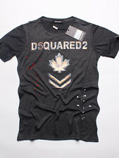 New DSQUARED T-shirt LOGO D2 Color- GRAY   Size-2XL