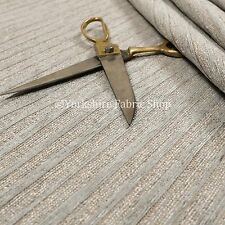 New Hard Wearing Textured Designer Grey Stripes Pattern Upholstery Sofas Fabric
