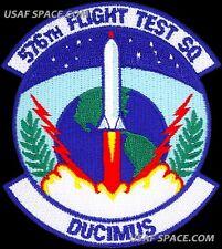 USAF 576th FLIGHT TEST SQUADRON -FLTS- VAFB ICBM Minuteman III - ORIGINAL PATCH