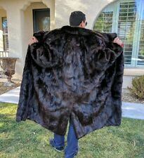 MEN'S GENUINE BEAVER FUR COAT FULL LENGTH JACKET