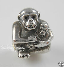 Retired CHIMP FAMILY Genuine PANDORA Silver MOM~BABY MONKEY Charm 790422 NEW