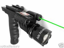 Rifle Vertical Foregrip Grip + 600 Lumen Flashlight and Green Laser Combo Sight