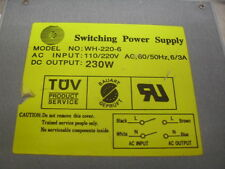 WH-220-6 Switching Power Supply 230 Watt AT XT 286 386 486 Clone Computer System