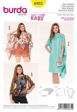 BURDA SEWING PATTERN LADIES DRAPING TOP DRESS 6/8 - 30/32  6935