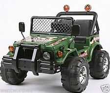 NEW COOL KIDS TOY RIDE ON CAR 2 SEATS 2 MOTORS 12V 4WD OFF ROAD ARMY JEEP HUMMER