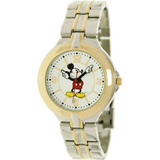 Disney Mickey Mouse Gold/Silver Watch; Comes in Collectable Tin - 60% Off Retail