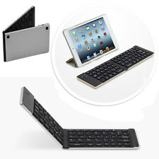 Faltbahre Bluetooth keyboard Tastatur APPLE  iPad Mini Tablet IOS - F66 Silber