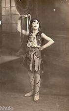 BJ184 Carte Photo vintage card RPPC Enfant danse jeune fille Espagne deguisement