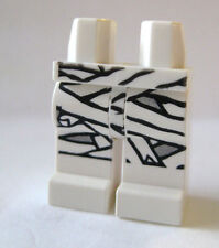 Lego MUMMY Minifigure LEGS ONLY White with Gauze Wrap Monster Spooky Halloween