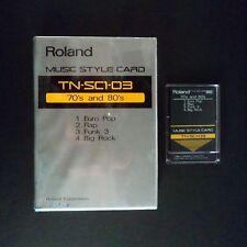 Roland STYLE CARD TN-SC1-03 70`s & 80`s ROM RA 50 ARRANGER E30 PIANO E5 KEYBOARD