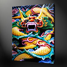 CHINESE DRAGON CANVAS WALL ART PICTURES PRINTS 30 x 20 Inch FREE UK P&P