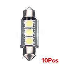 10 X 36mm CANBUS Fehlerfrei 3 LED 5050 SMD 6418 C5W Auto Schild Lampe DE