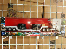1/32 NEW RAY KENWORTH W900 SEMI LOWBOY WITH TRACTOR TIRES DAY CAB WHITE