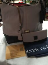 Dooney & Bourke European Leather Sophie Hobo Oyster With Wallet And Key Ring