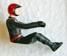 Pioneer 154-RHB Driver figure, black uniform, red open-face helmet