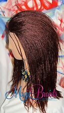 "Fully Braided LACE Front with deep part WIG Micro Braids Color #35 16"" to 18"""