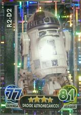 R2-D2 ASTROMECH DROID SPANISH HOLOGRAPHIC #201 TOPPS FORCE ATTAX STAR WARS R2D2