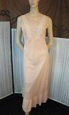Vintage Nighty 1970s High Neck Victorian Style Sheer Nylon Nightdress