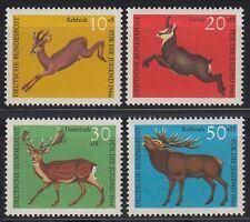 Germany federal BRD 1966 mié 511/14 ** animales animals Reh ciervo cabra Deer