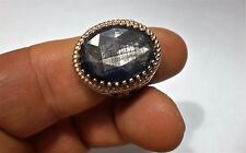 Turkish Ottoman Natural Labradorite Gemstone 925 Sterling Silver Men Ring 2