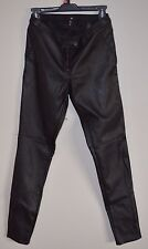 H & M Faux Leather Pants Black Stretch Motorcycle Moto
