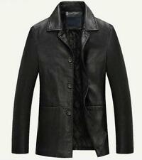 winter Mens warm real leather jacket jacket coat trench outwear overcoat