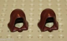 Lego 2x Reddish Brown Minifig, Headgear Hood (30381) NEW!!!