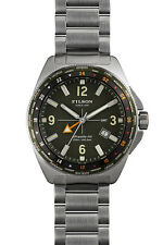 NWT SHINOLA FILSON THE JOURNEYMAN GMT WATCH 44mm Silver New