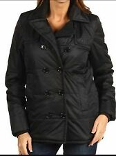LACOSTE QUILTED PEA COAT PUFFER JACKET, SIZE EUR 40, IN BLACK