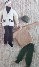 Vintage Knitting Pattern Dolls/Toys Clothes Outfit  Action Man Type Doll E6690