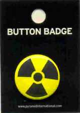 Toxic Waste Symbol 25mm Button Badge Pin Carded