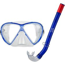 Ocean Pro Starfish Youth Mask & Snorkel Set w/ Carry Bag (Blue)