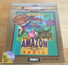 The Amazon Trail Cd Rom Mecc New Sealed in Box Windows 95 3.1 Mac Vintage Game
