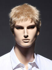 Fashion wig New sexy Men short Natural Blonde Wigs